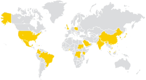23 Countries