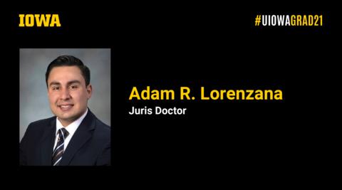 Adam Lorenzana Recognition Slide