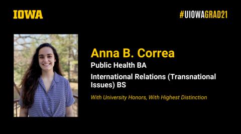 Anna Correa Recognition Slide