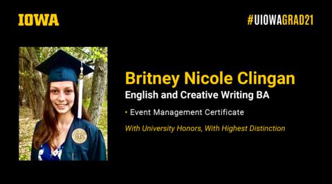 Britney Clingan Recognition Slide