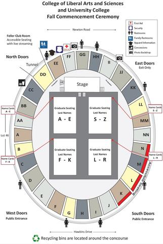 Carver-Hawkeye Arena Seating Map
