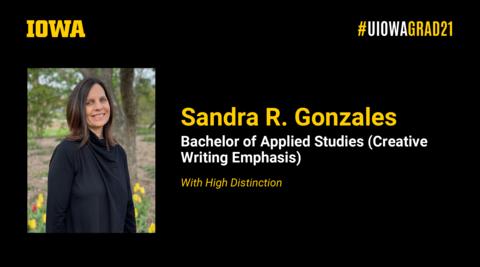 Sandra Gonzales Recognition Slide