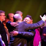 Theatre Commencement Hugs Spring 2019