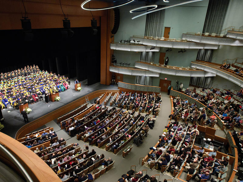 Graduate College Stage and Crowd