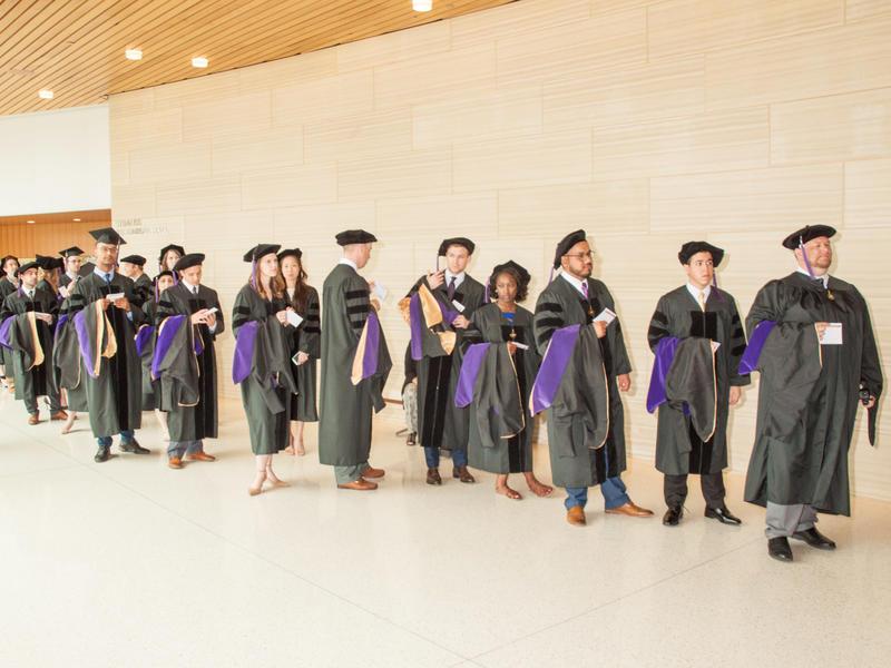Law Graduates in Line