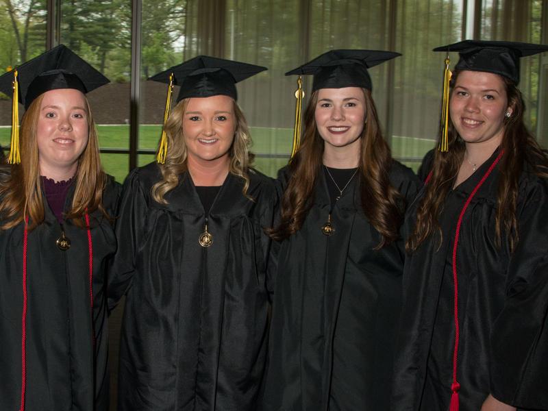 Medicine Bachelor of Science Graduates Posing